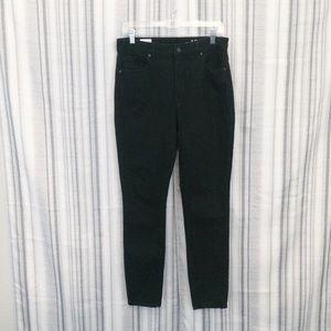 Gap High Rise Skinny Jeans in Black Size 31